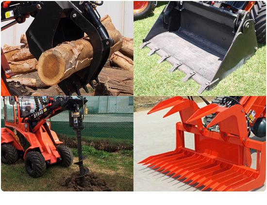 Global Machinery Sales Mini Loader Attachments
